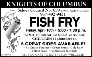 Fish Fry - April 10th
