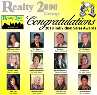 Congratulations 2019 Individual Sales Awards