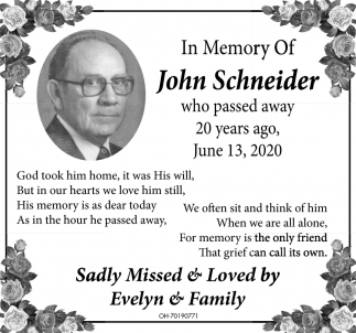 In Memory of John Schneider