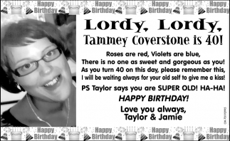 Tammey Coverstone is 40!