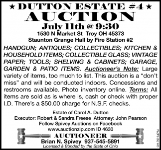 Dutton Estate #4 Auction