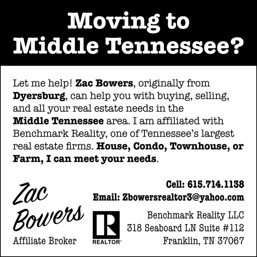 Moving to Middle of Tennessee?
