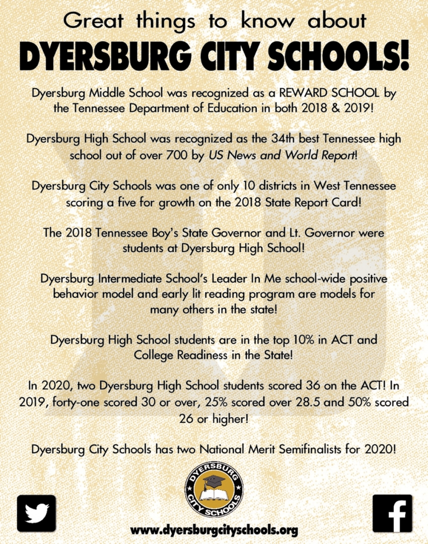 Great Things to Know About Dyersburg City Schools!