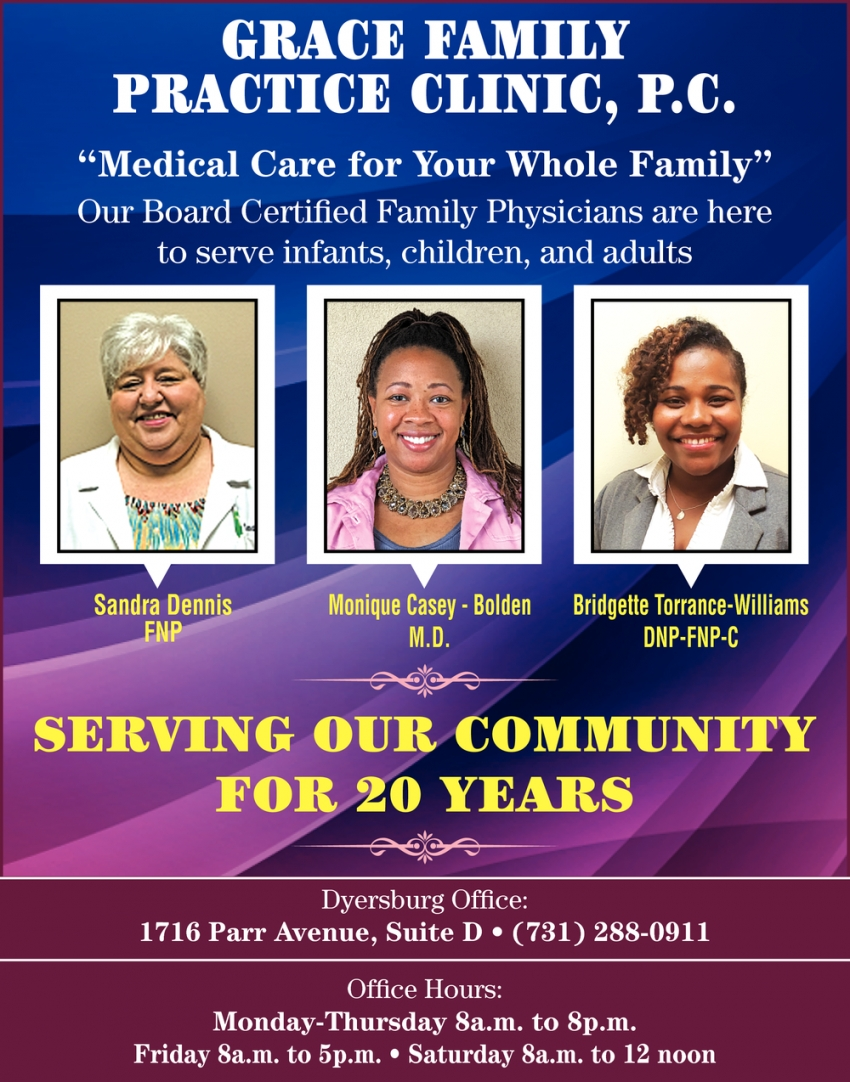 Serving Our Community for 20 Years