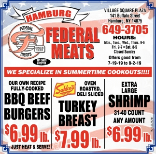 We Specialize In Summertime Cookouts!!!