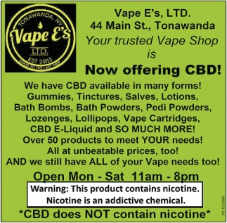 Now Offering CBD!