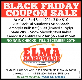 Black Friday Coupon Sale