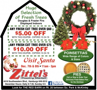 Huge Selection Of Fresh Trees