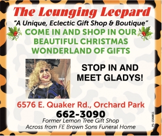 Stop In And Meet Gladys!