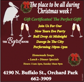 The Place To Be All During Christmas Week!