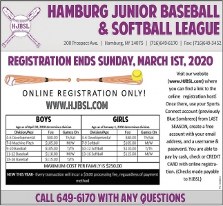 Registration Ends Sunday, March 1st, 2020