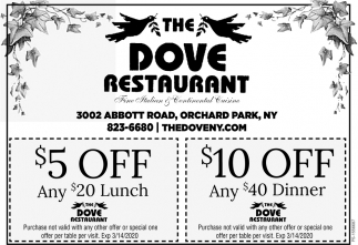 $5 Off Any $20 Lunch