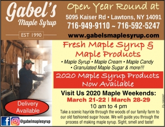 Fresh Maple Syrup & Maple Products