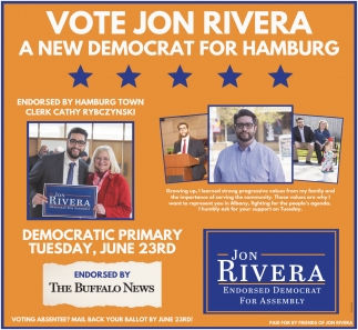 Vote Jon Rivera A New Democrat For Hamburg