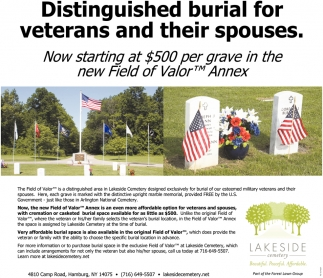Distinguished Burial For Veterans And Their Spouses