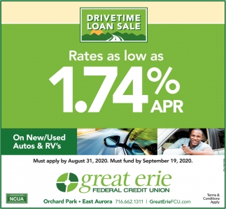 Rates As Low As 1.74% APR