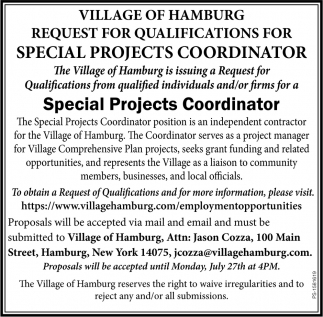 Special Projects Coordinator
