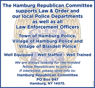 Supports Law & Order And Our Local Police Departments