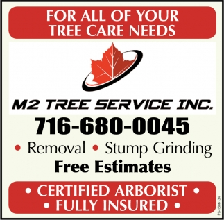 For All Of Your Tree Care Needs