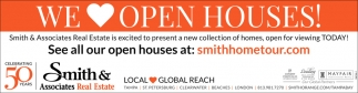 WE LOVE OPEN HOUSES!