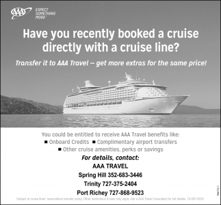 Have You Recently Booked A Cruise Directly With A Cruise Line?