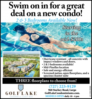 Swim On In For A Great Deal On A New Condo!