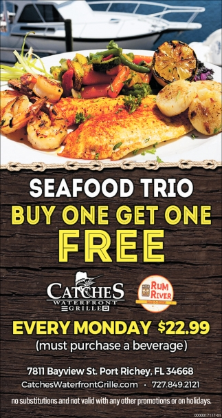 SEAFOOD TRIO BUY ONE GET ONE FREE