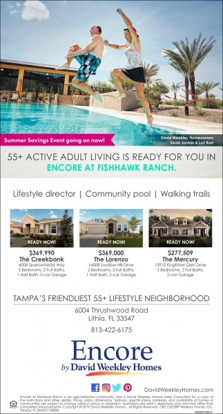 55+ ACTIVE ADULT LIVING IS READY FOR YOU IN