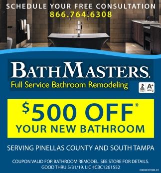 $500 OFF YOUR NEW BATHROOM