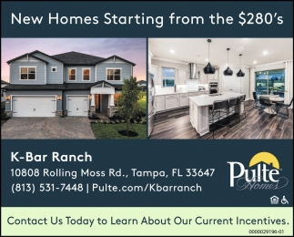 New Homes Starting From The $280's