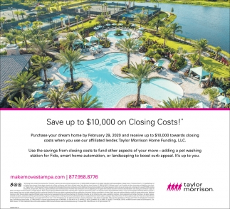 Save Up Ti $10,000 On Closing Costs!