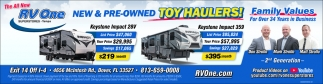 New & Pre-Owned Toy Haulers!