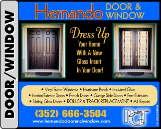 Dress Up Your Home With A New Glass Insert In Your Door!
