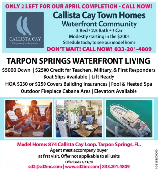 Tarpon Springs Waterfront Living