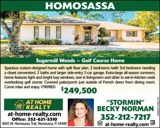 Sugarmill Woods - Golf Course Home
