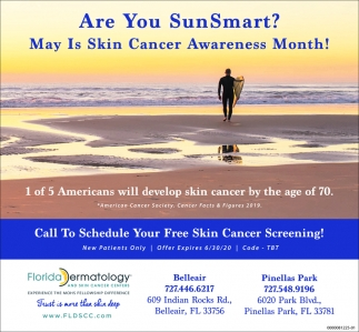 Are You SunSmart? May Is Skin Cancer Awareness Month!