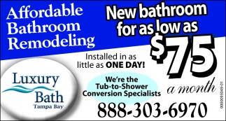 Affordable Bathroom Remodeling