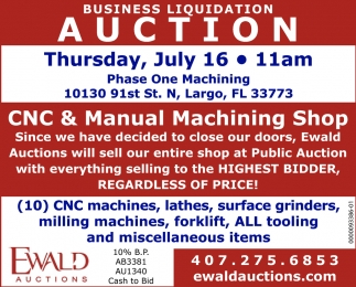 Business Liquidation Auction