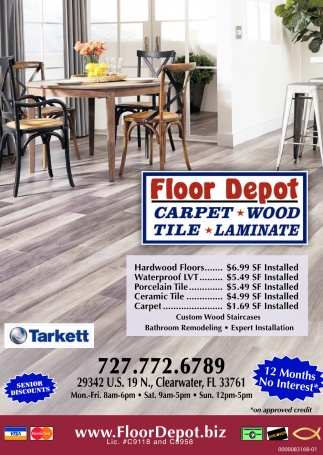 Carpet - Wood - Tile - Laminate