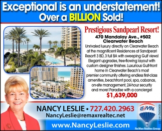 Prestigious Sandpearl Resort!