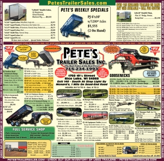 Pete's Weekly Specials