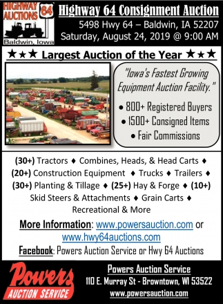 Highway 64 Consignment Auction
