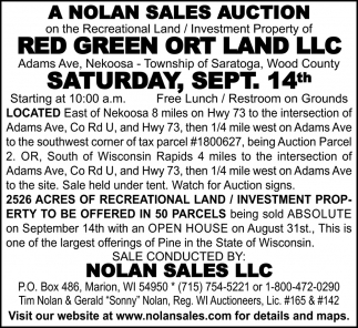 A Nolan Sales Auction