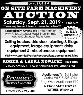 On Site Farm Machinery Auction