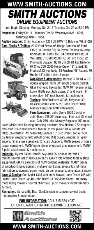 Online Farm Equipment Auction