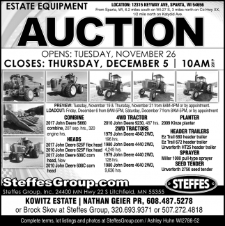 Estate Equipment Auction