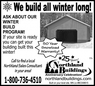We Build All Winter Long