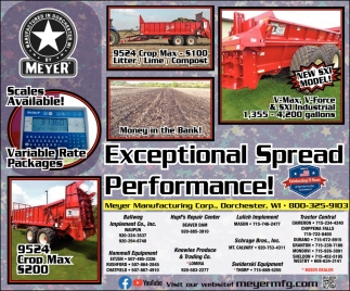 Exceptional Spread Performance!
