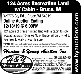 124 Acres Recreation Land