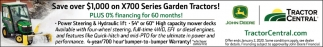 Save Over $1,000 on X700 Series Garden Tractors